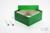 ALPHA Box 75 / 1x1 ohne Facheinteilung, grün, Höhe 75 mm, Karton standard....