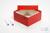 ALPHA Box 75 / 1x1 ohne Facheinteilung, rot, Höhe 75 mm, Karton standard....
