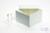 ALPHA Box 75 / 1x1 ohne Facheinteilung, weiss, Höhe 75 mm, Karton standard....