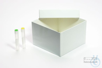 ALPHA Box 75 / 1x1 without divider, white, height 75 mm, fiberboard special....