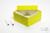 ALPHA Box 75 / 1x1 ohne Facheinteilung, gelb, Höhe 75 mm, Karton standard....
