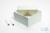 ALPHA Box 100 / 1x1 ohne Facheinteilung, blau, Höhe 100 mm, Karton standard....