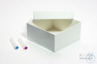 ALPHA Box 100 / 1x1 without divider, blue, height 100 mm, fiberboard special....