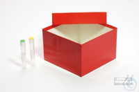 ALPHA Box 100 / 1x1 without divider, white, height 100 mm, fiberboard...