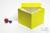 ALPHA Box 130 / 1x1 ohne Facheinteilung, gelb, Höhe 130 mm, Karton standard....