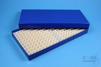 ALPHA Box 25 long2 / 16x32 divider, blue, height 25 mm, fiberboard standard....