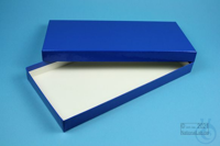 ALPHA Box 25 long2 / 1x1 without divider, blue, height 25 mm, fiberboard...