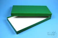 ALPHA Box 25 long2 / 1x1 without divider, green, height 25 mm, fiberboard...