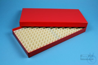 ALPHA Box 25 long2 / 16x32 divider, red, height 25 mm, fiberboard standard....