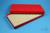 ALPHA Box 25 lang2 / 16x32 Fächer, rot, Höhe 25 mm, Karton standard. ALPHA...