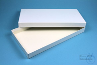 ALPHA Box 25 long2 / 1x1 without divider, white, height 25 mm, fiberboard...