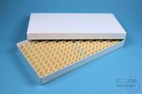 ALPHA Box 25 long2 / 16x32 divider, white, height 25 mm, fiberboard standard....
