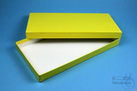 ALPHA Box 25 long2 / 1x1 without divider, yellow, height 25 mm, fiberboard...