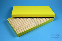 ALPHA Box 25 long2 / 16x32 divider, yellow, height 25 mm, fiberboard special....