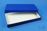 ALPHA Box 32 long2 / 1x1 without divider, blue, height 32 mm, fiberboard...