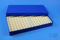 ALPHA Box 32 long2 / 13x26 divider, blue, height 32 mm, fiberboard standard....