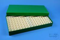 ALPHA Box 32 long2 / 13x26 divider, green, height 32 mm, fiberboard standard....