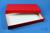 ALPHA Box 32 lang2 / 1x1 ohne Facheinteilung, rot, Höhe 32 mm, Karton...