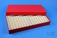 ALPHA Box 32 long2 / 13x26 divider, red, height 32 mm, fiberboard standard....