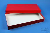 ALPHA Box 32 long2 / 1x1 without divider, red, height 32 mm, fiberboard...