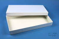 ALPHA Box 32 long2 / 1x1 without divider, white, height 32 mm, fiberboard...