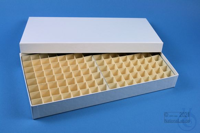 ALPHA Box 32 long2 / 13x26 divider, white, height 32 mm, fiberboard special....