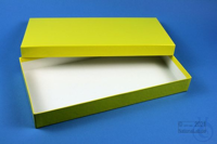 ALPHA Box 32 long2 / 1x1 without divider, yellow, height 32 mm, fiberboard...