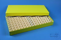 ALPHA Box 32 long2 / 13x26 divider, yellow, height 32 mm, fiberboard special....