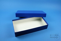 ALPHA Box 50 long2 / 1x1 without divider, blue, height 50 mm, fiberboard...