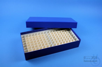 ALPHA Box 50 long2 / 10x20 divider, blue, height 50 mm, fiberboard special....