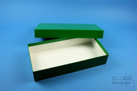 ALPHA Box 50 long2 / 1x1 without divider, green, height 50 mm, fiberboard...