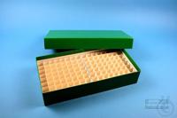 ALPHA Box 50 long2 / 10x20 divider, green, height 50 mm, fiberboard standard....