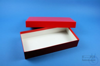 ALPHA Box 50 long2 / 1x1 without divider, red, height 50 mm, fiberboard...