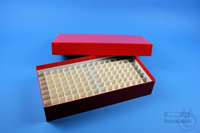ALPHA Box 50 long2 / 10x20 divider, red, height 50 mm, fiberboard standard....