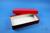 ALPHA Box 50 lang2 / 1x1 ohne Facheinteilung, rot, Höhe 50 mm, Karton...
