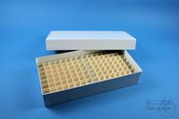 ALPHA Box 50 long2 / 10x20 divider, white, height 50 mm, fiberboard standard....