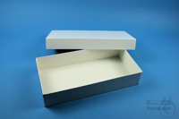 ALPHA Box 50 long2 / 1x1 without divider, white, height 50 mm, fiberboard...