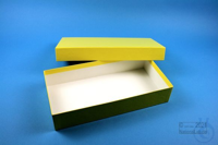 ALPHA Box 50 long2 / 1x1 without divider, yellow, height 50 mm, fiberboard...