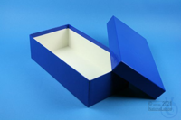 ALPHA Box 75 long2 / 1x1 without divider, blue, height 75 mm, fiberboard...