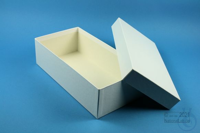 ALPHA Box 75 long2 / 1x1 without divider, white, height 75 mm, fiberboard...