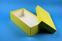 ALPHA Box 75 long2 / 1x1 without divider, yellow, height 75 mm, fiberboard...