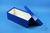 ALPHA Box 100 long2 / 1x1 without divider, blue, height 100 mm, fiberboard...