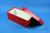 ALPHA Box 100 lang2 / 1x1 ohne Facheinteilung, rot, Höhe 100 mm, Karton...