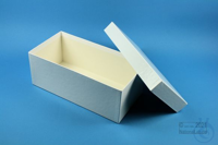 ALPHA Box 100 long2 / 1x1 without divider, white, height 100 mm, fiberboard...