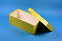 ALPHA Box 100 long2 / 1x1 without divider, yellow, height 100 mm, fiberboard...