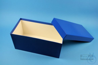 ALPHA Box 130 long2 / 1x1 without divider, blue, height 130 mm, fiberboard...