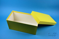 ALPHA Box 130 long2 / 1x1 without divider, yellow, height 130 mm, fiberboard...
