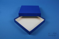 BRAVO Box 25 / 1x1 without divider, blue, height 25 mm, fiberboard standard....