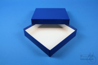 BRAVO Box 32 / 1x1 without divider, blue, height 32 mm, fiberboard standard....