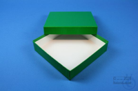 BRAVO Box 32 / 1x1 without divider, green, height 32 mm, fiberboard special....
